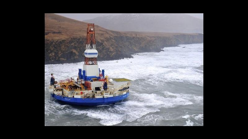 Usa, piattaforma Shell arenata in Alaska. Si teme disastro ecologico