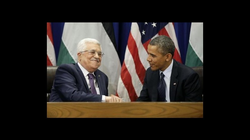 Medioriente, Obama riceve oggi Abbas: sul tavolo colloqui di pace