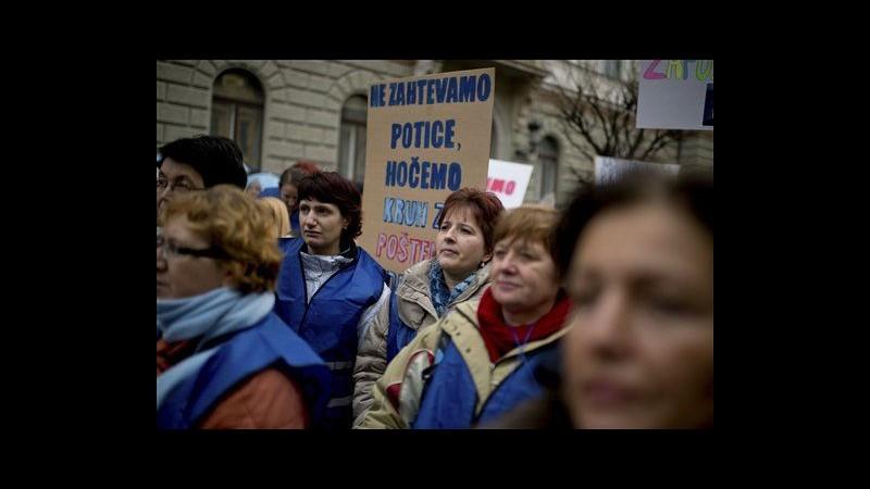 Slovenia, sciopero generale del settore pubblico contro auterità