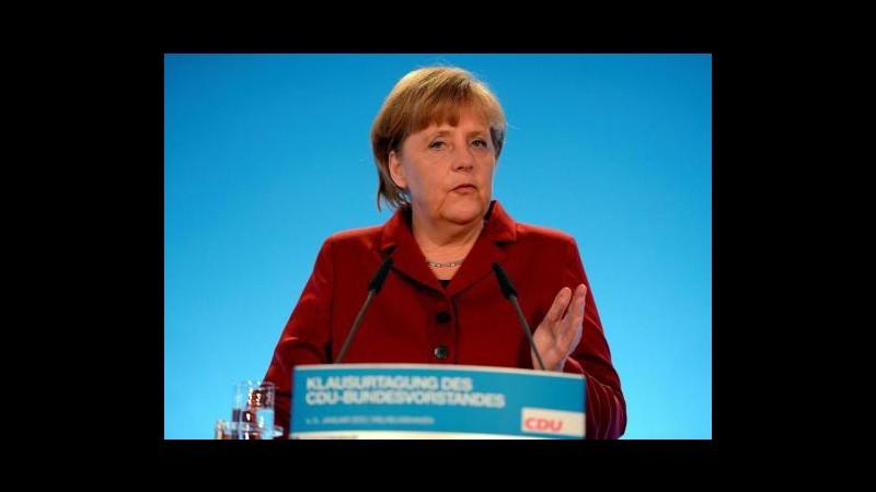 Germania, Bassa Sassonia al voto: test elettorale per Cdu di Merkel