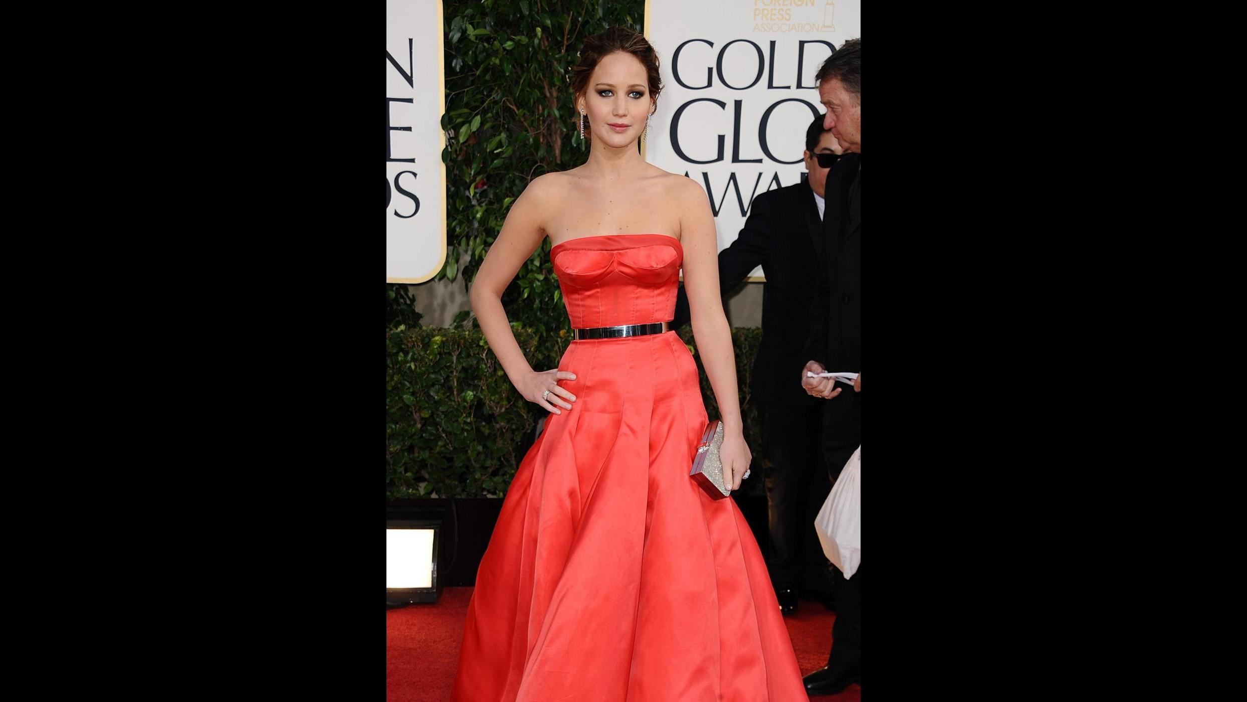 Golden Globe, Lawrence e Cotillard, due gemelle in rosso Dior
