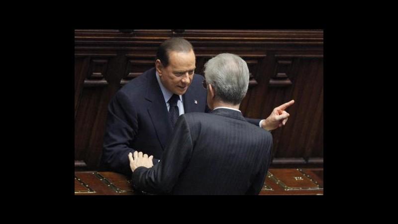 Elezioni, Berlusconi: Monti si dimetta da senatore a vita