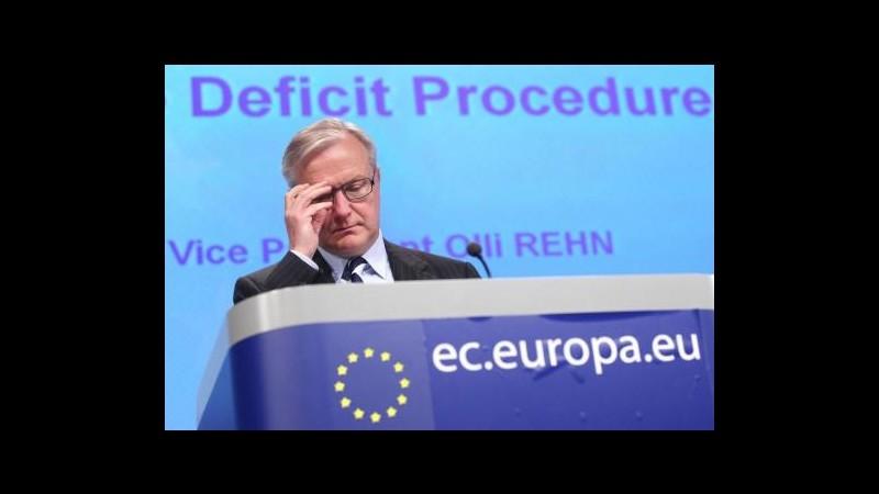 Rehn: Italia in linea su deficit, no manovre aggiuntive