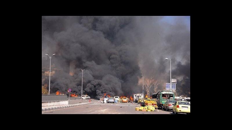 Siria, raffica di esplosioni a Damasco: oltre 80 morti e 200 feriti