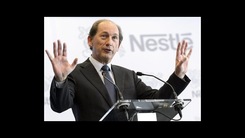Nestlè, utile 2012 sale a 10,6 mld franchi svizzeri, bene ricavi
