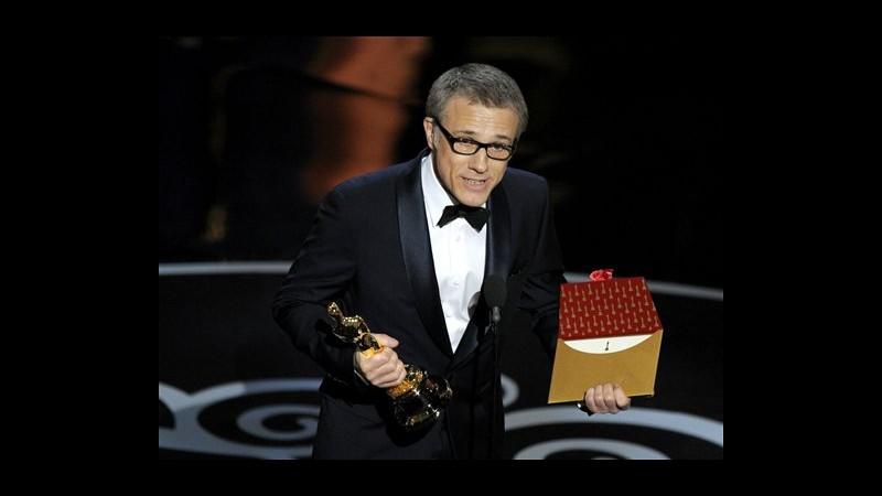 Oscar, premiati Christoph Waltz e Quentin Tarantino per 'Django Unchained'