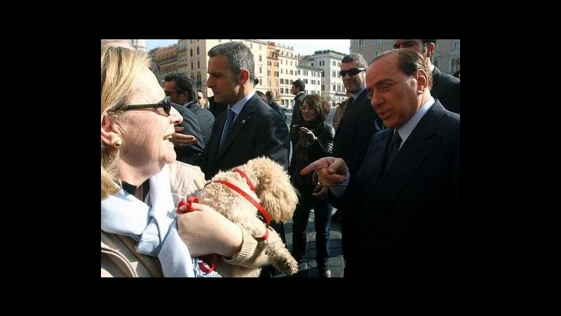 Dopo Cesano Boscone, Berlusconi è alla Festa degli amici animali