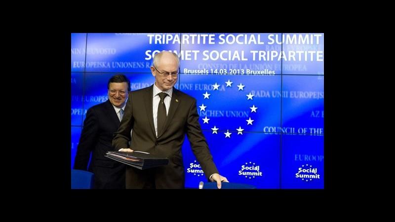 Crisi, Van Rompuy: Ancora lunga strada per crescita