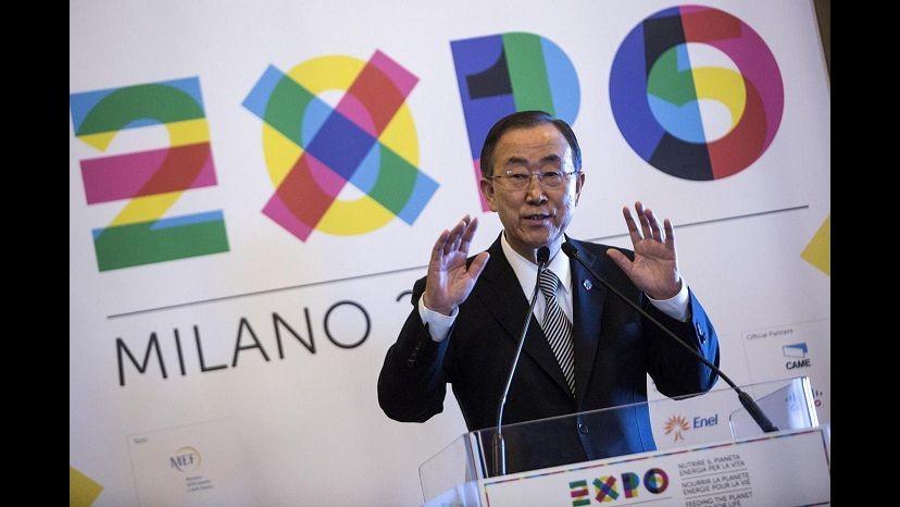 Expo, Ban Ki-moon: Onu all'Esposizione di Milano con la Sfida Fame Zero