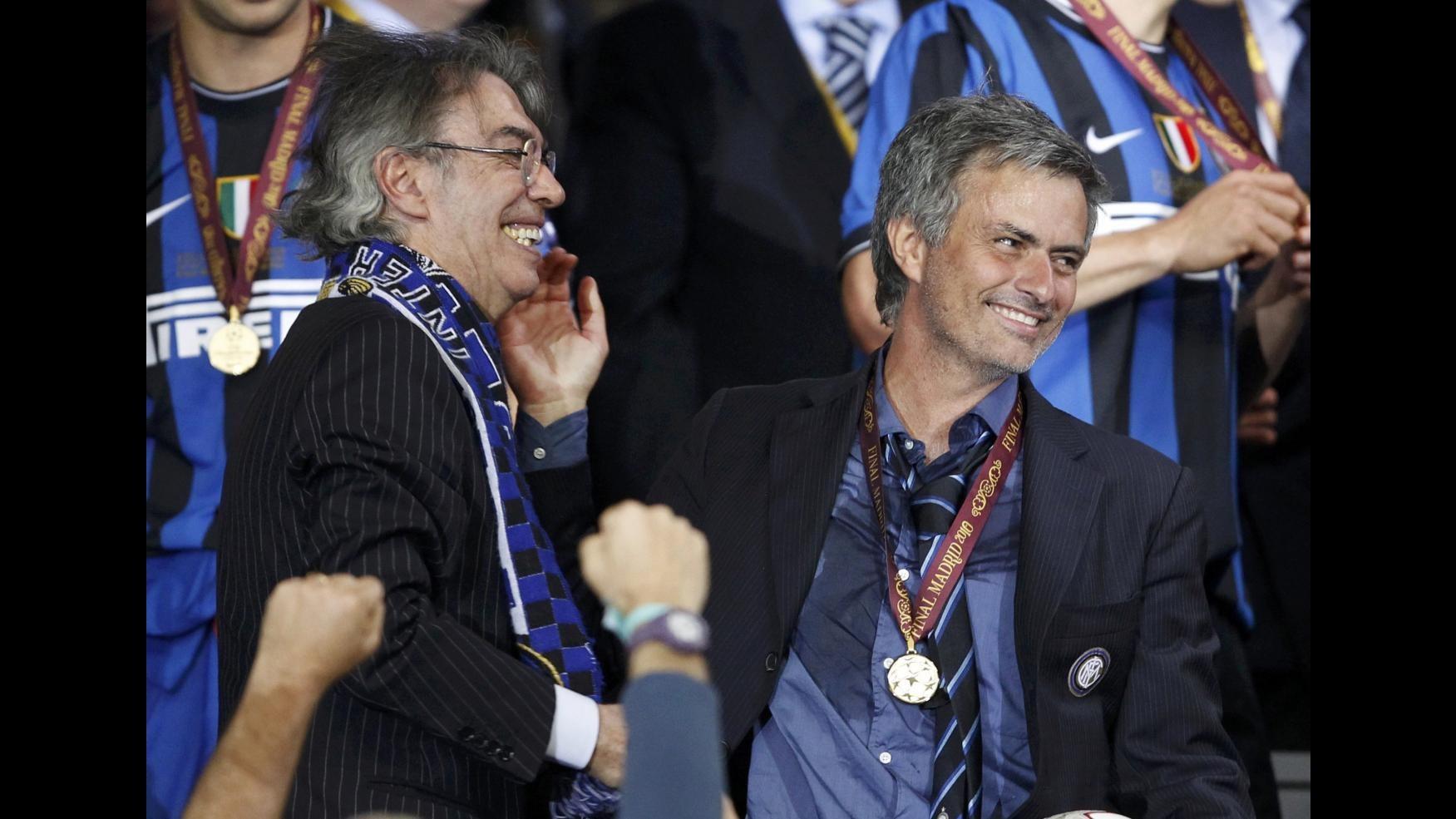 Moratti: Mourinho? Ci sono stati sms ma solo di simpatia