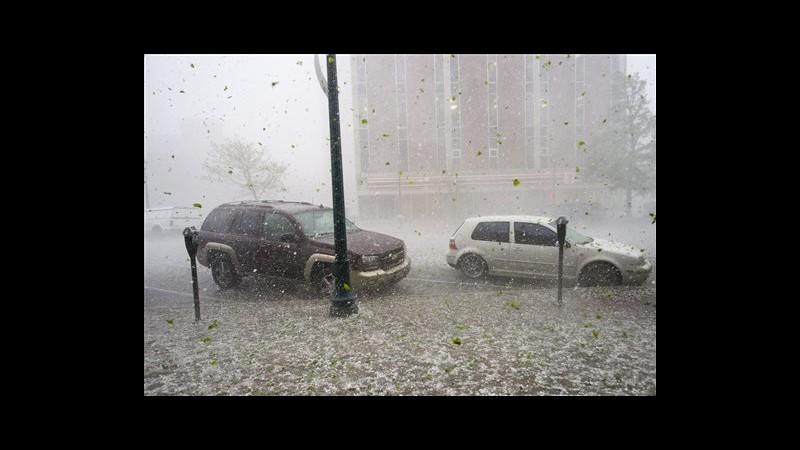 Usa, grandine e temporali in Colorado, chiuso per un'ora scalo Denver