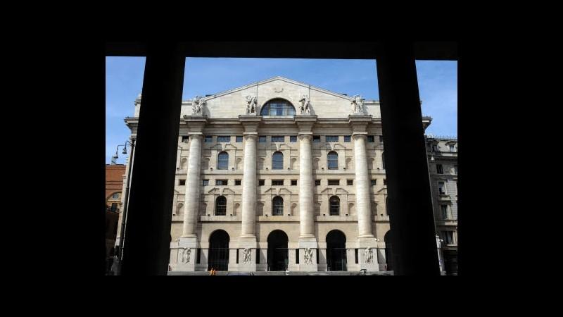 Borsa, Milano in rosso con Telecom e banche, volano Ansaldo e Mediaset