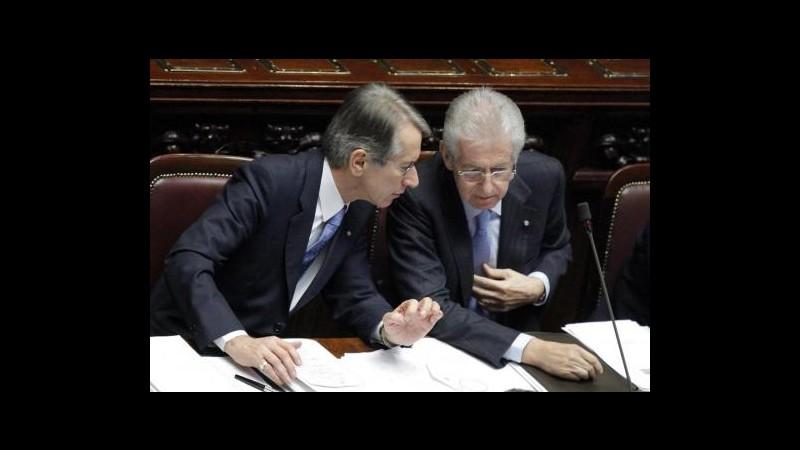 Monti: Terzi non mi aveva preannunciato dimissioni
