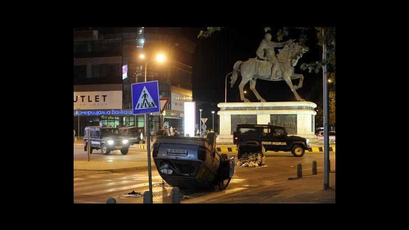 Macedonia, rivolta anti-albanese a Skopje dopo omicidio: 18 arresti
