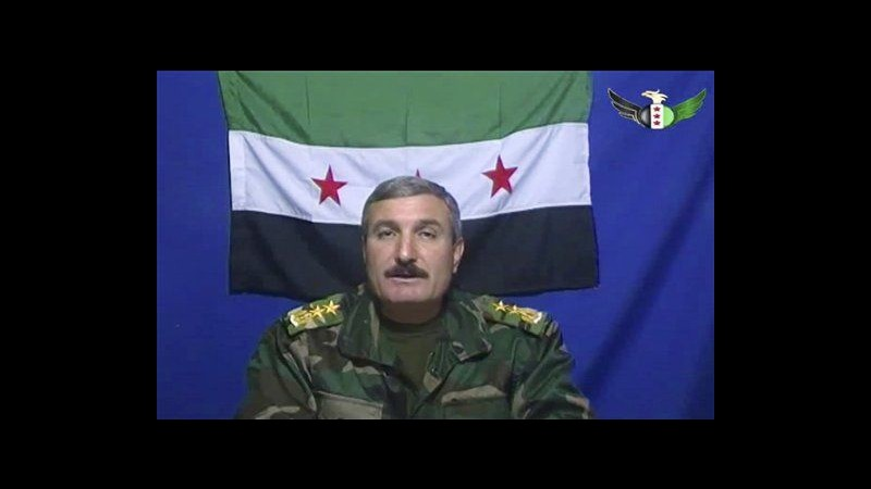 Siria, ferito in attentato il comandante dell'Esercito siriano libero