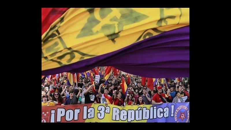 Spagna, migliaia in marcia a Madrid contro la monarchia