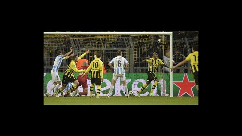 Champions, Borussia Dortmund elimina Malaga all'ultimo respiro: 3-2