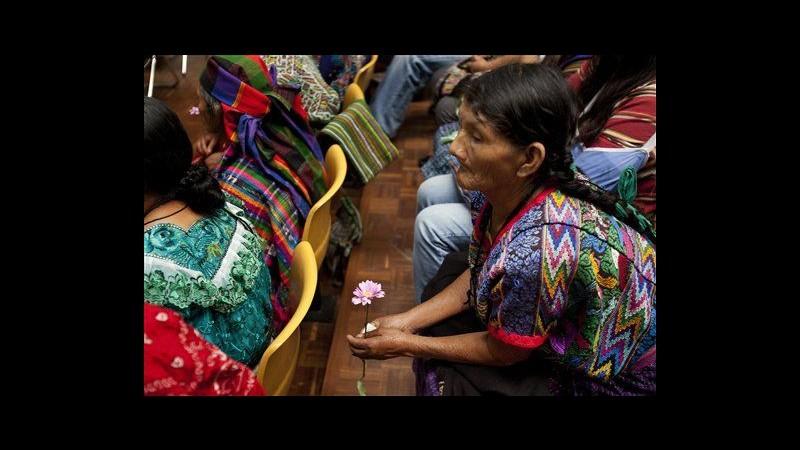 Guatemala, a processo Rios Montt per genocidio accuse su Perez Molina