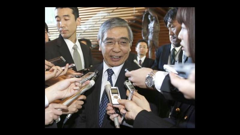 Giappone, Bank of Japan adotta politica monetaria aggressiva