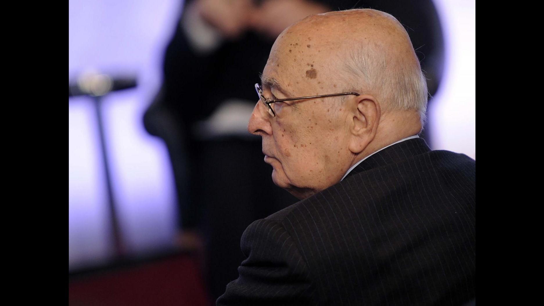 Strage Capaci, Napolitano: Sacrificio Falcone sia stimolo a resistere