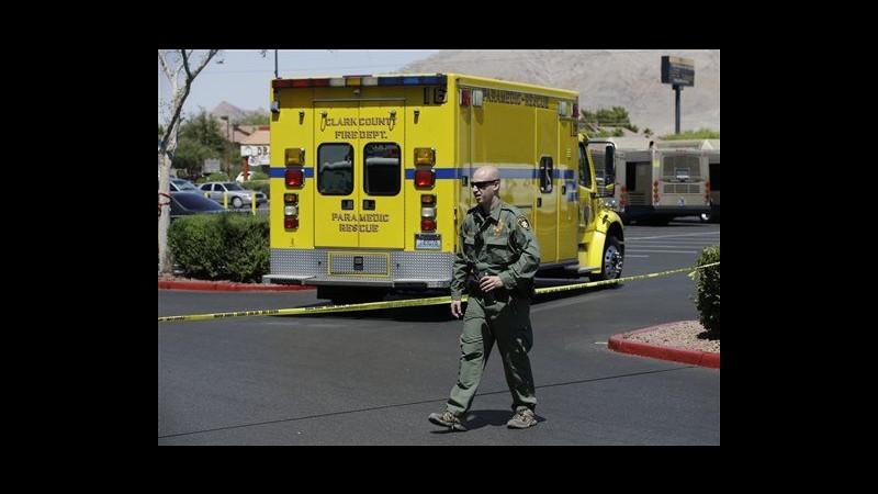 Usa, sparatoria in pizzeria e supermercato a Las Vegas: 3 morti
