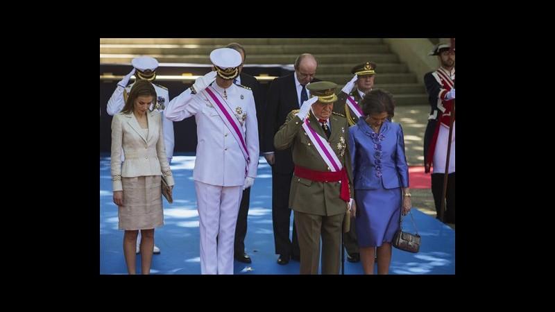 Spagna, Juan Carlos presiede ultima parata da re, c'era anche Felipe