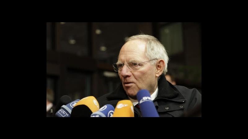 Crisi, Schaeuble: E' possibile una unione bancaria in due tempi