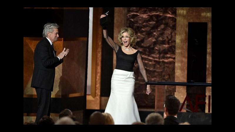 Jane Fonda riceve il premio alla carriera dell'American Film Institute