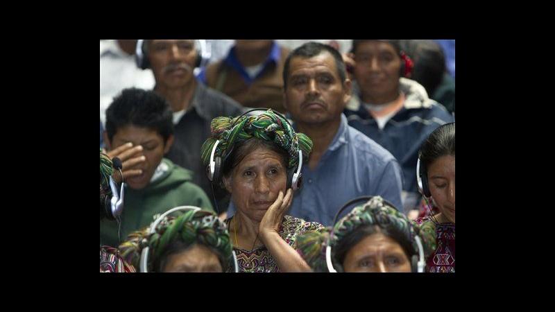 Guatemala, condannato per genocidio Rios Montt