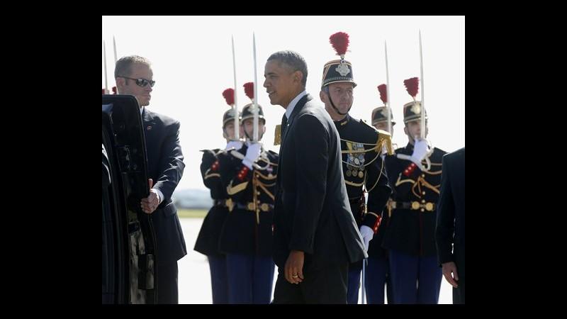 Francia, iniziata cena Obama-Hollande a Parigi vicino Champs-Elysees