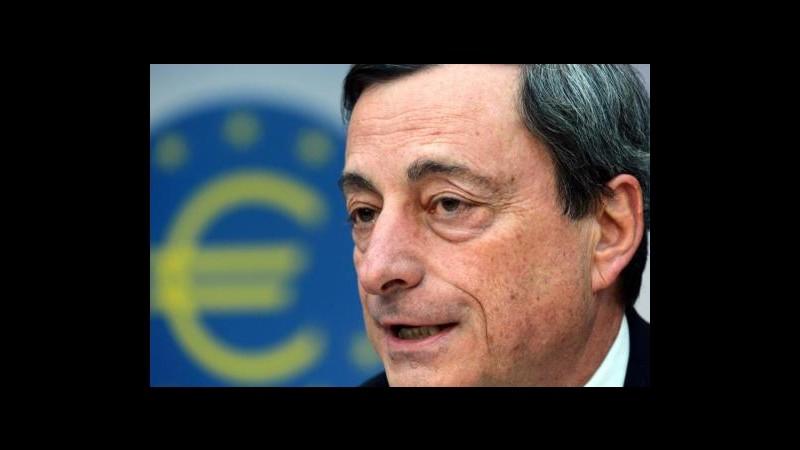 Draghi: Reddito sia più equo, senza lavoro rischio proteste violente