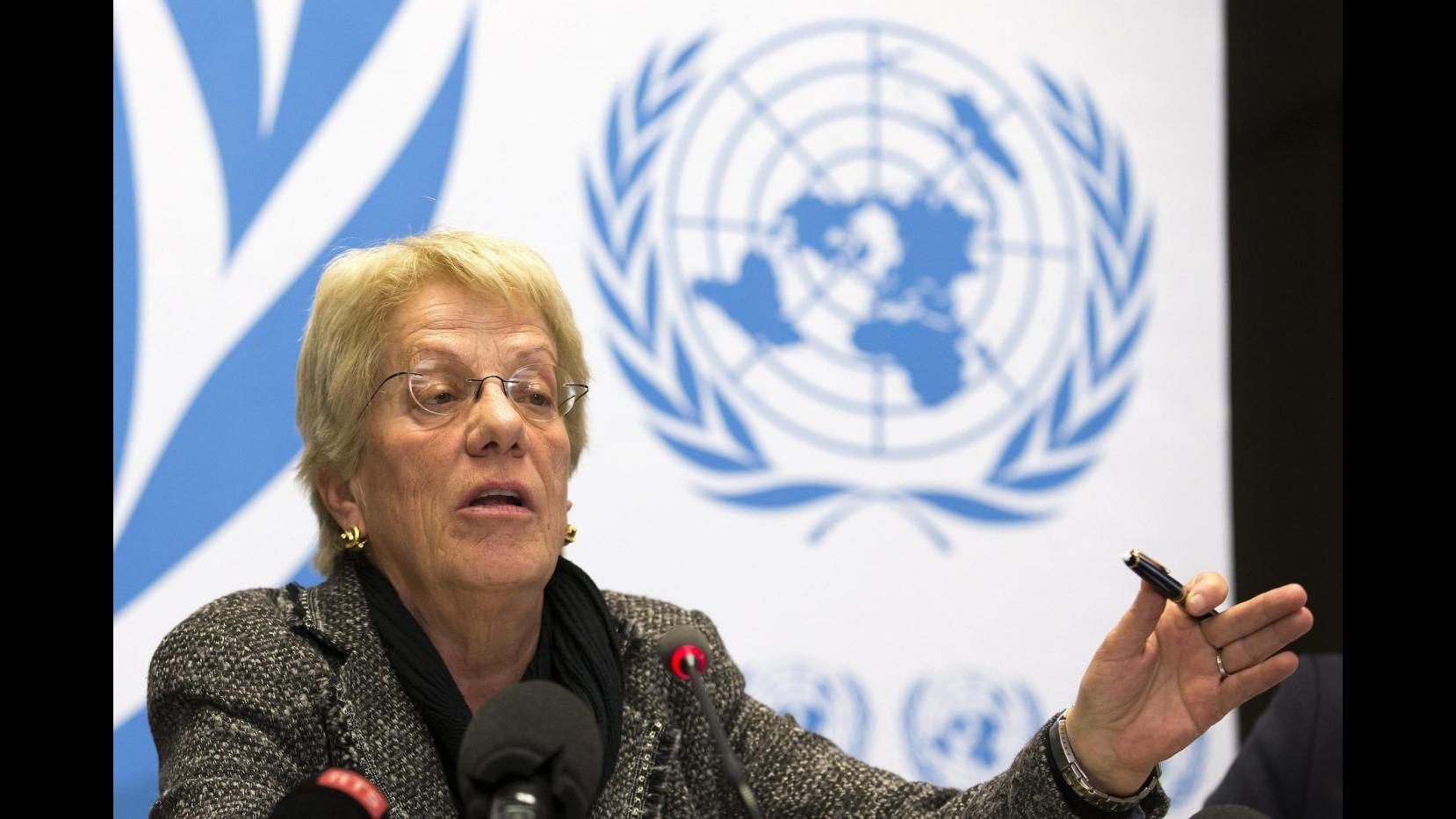 Siria, Del Ponte: Secondo indagini solo ribelli hanno usato gas sarin