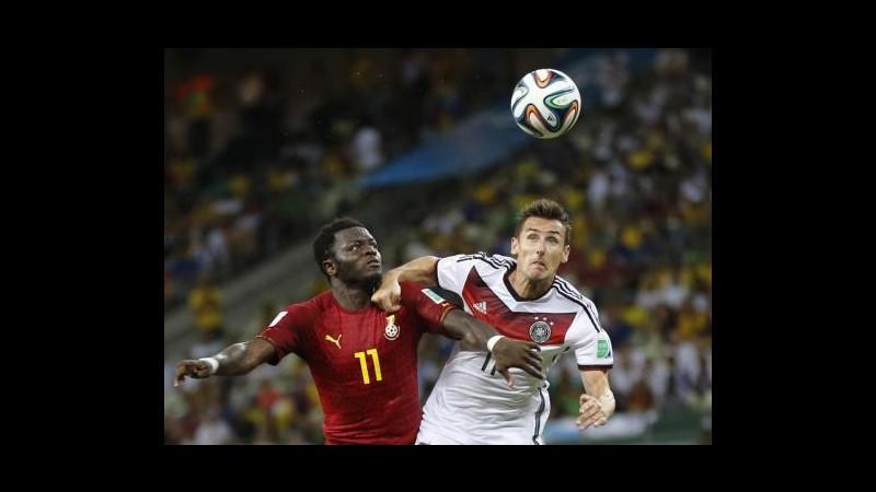 Mondiali 2014, partita Germania-Ghana vista da 6 milioni spettatori