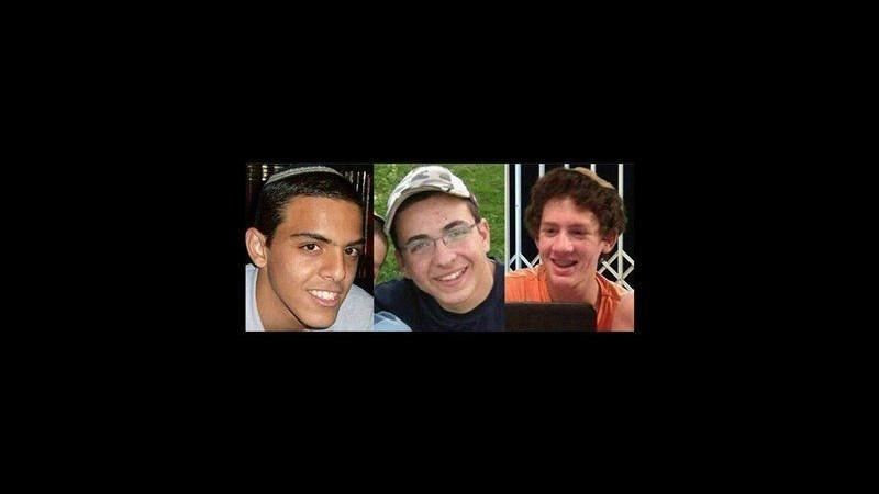 Trovati morti i 3 ragazzi israeliani rapiti  Netanyahu: Hamas pagherà