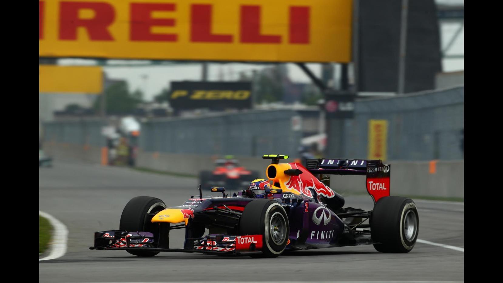 F1, Gp Canada: Webber più veloce in terze libere, Alonso 4°