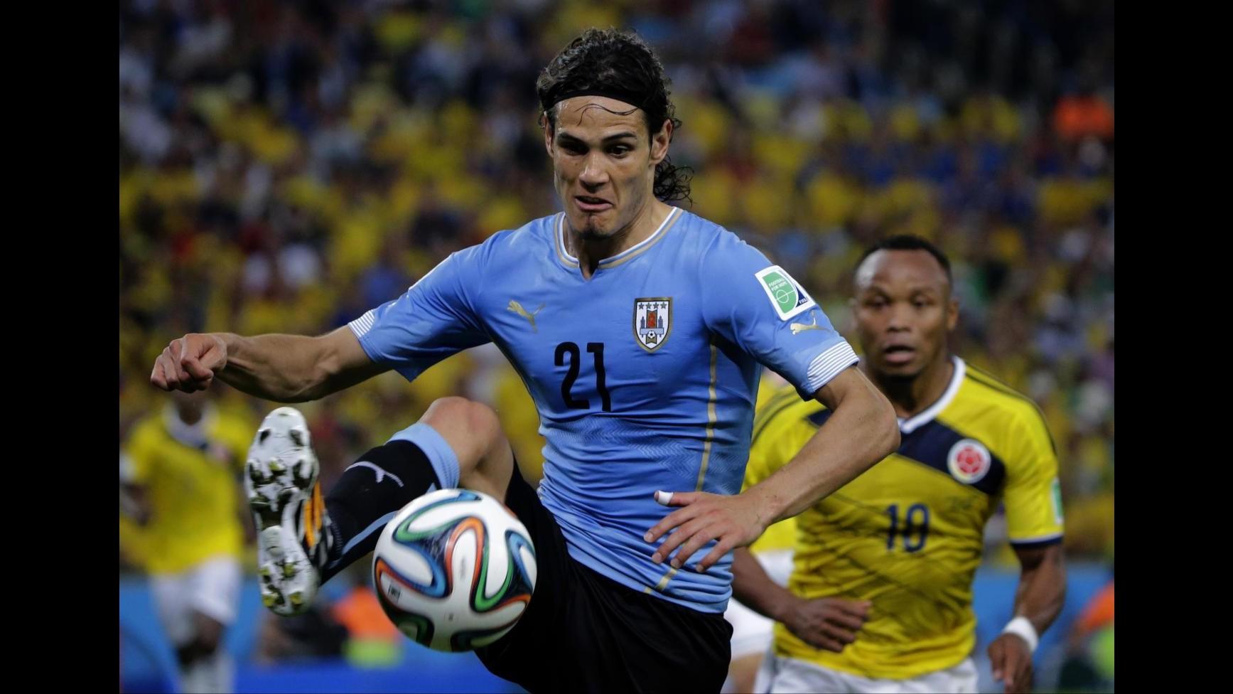 Mondiali 2014, Cavani: La squalifica di Suarez è stata dura