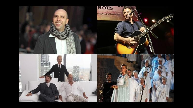 Spettacolo, Siae: Zalone, Trio, Springsteen e Nabucco campioni del 2013