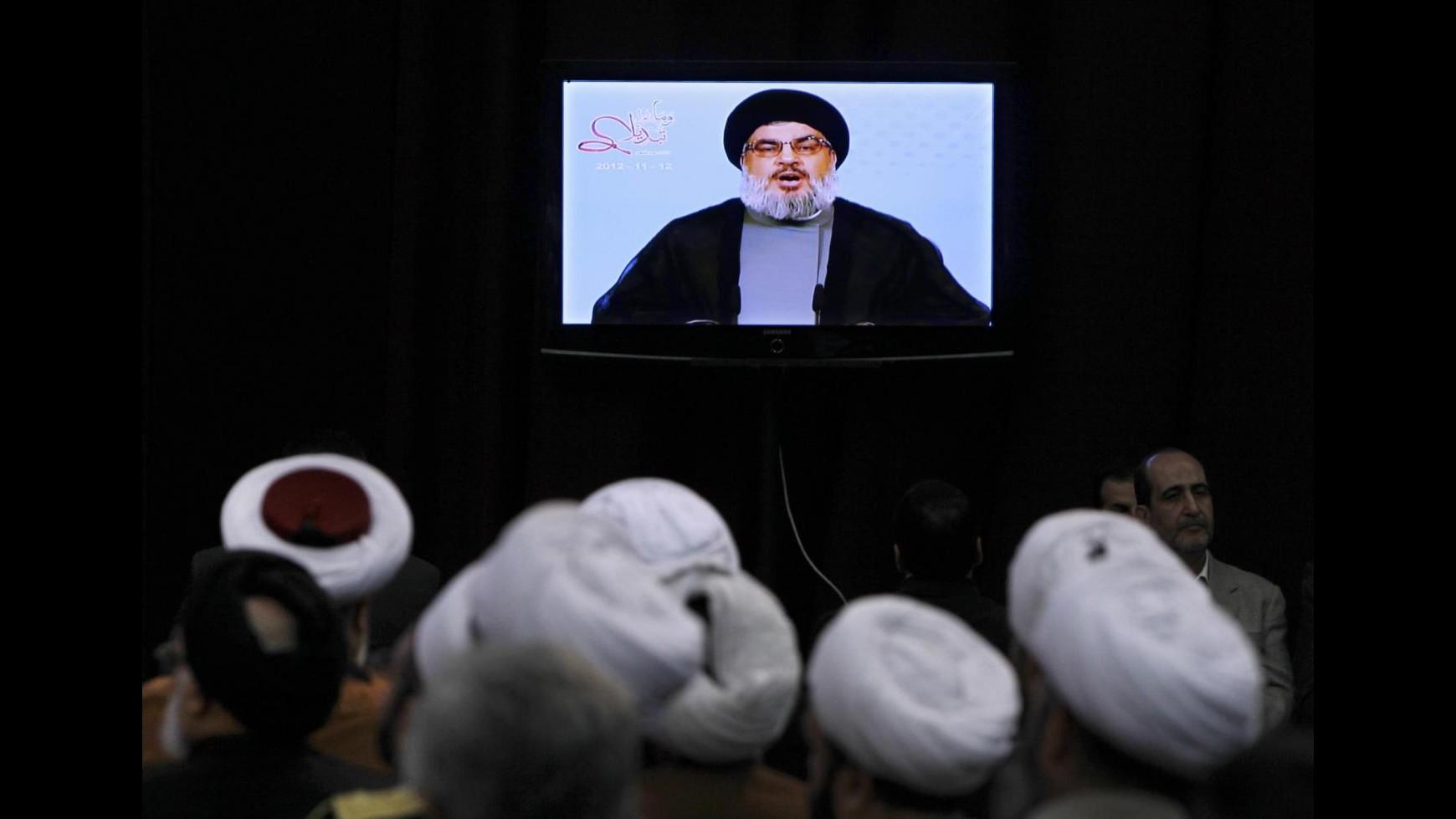 Siria, Nasrallah: Hezbollah continuerà a combattere ovunque necessario