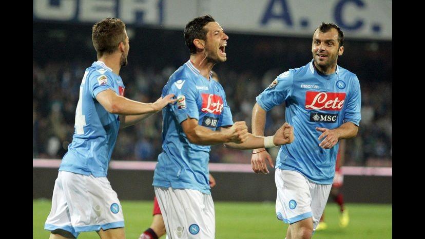 Calcio, amichevole: Napoli supera Barcellona a Ginevra, decide Dzemaili