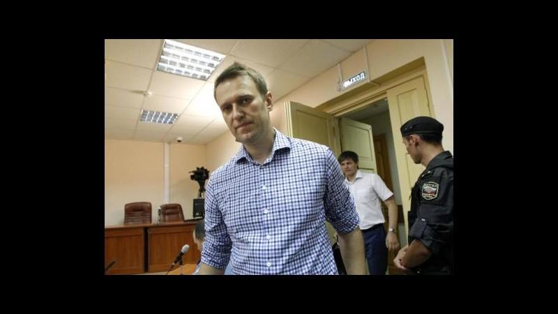 Russia, condannato a 5 anni Alexei Navalny, blogger anti Putin
