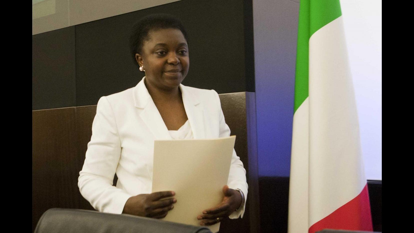 Kyenge a Calderoli: Rammarico, ben vengano critiche ma costruttive