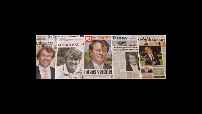 Olanda piange la morte del principe Friso: migliaia in lutto