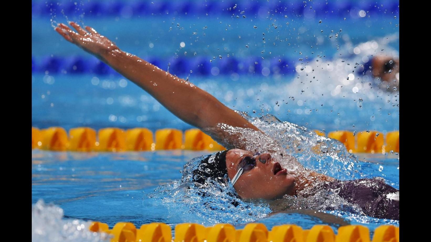 Nuoto, Mondiali: Pellegrini fuori da finale 200 dorso ma felice, brilla Rivolta