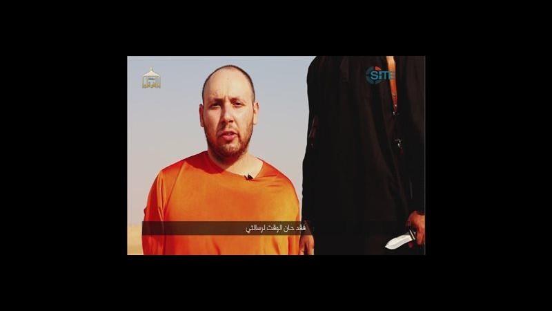 Nuovo video Isil: decapitato reporter Usa Sotloff.Il boia: Obama, sono tornato