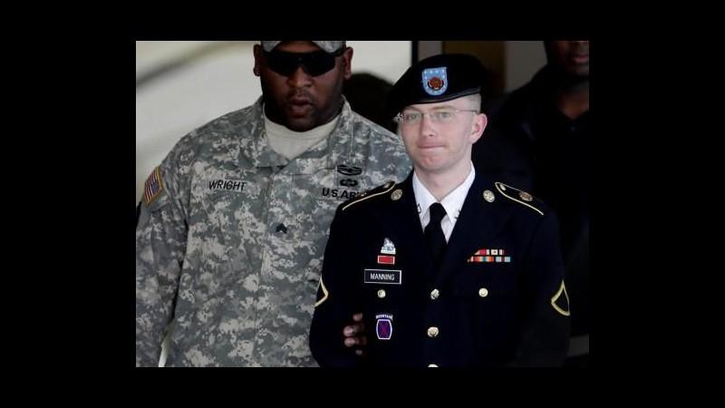 WikiLeaks, Manning colpevole di spionaggio ma non di aiuto al nemico: rischia 136 anni di carcere