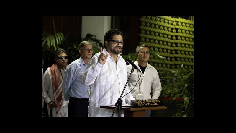 Colombia, Farc tornano a tavolo negoziati: Cercare pace con tutti i mezzi