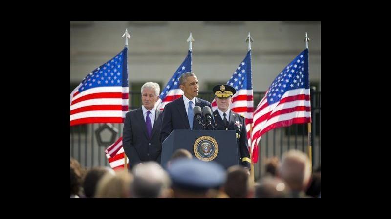 11 settembre, Obama: 13 anni dopo America sta in piedi a testa alta