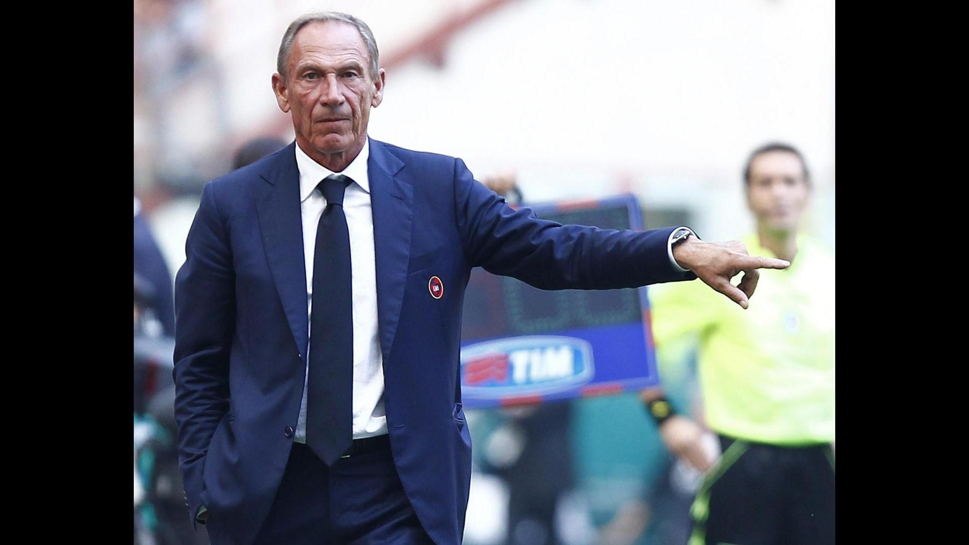 Cagliari, Zeman: Oggi ce la siamo giocata, abbiamo fatto meglio dell'Inter