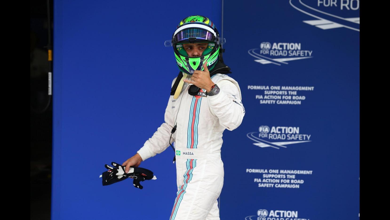 F1, Massa ai tifosi brasiliani: Grazie per energia che mi avete dato