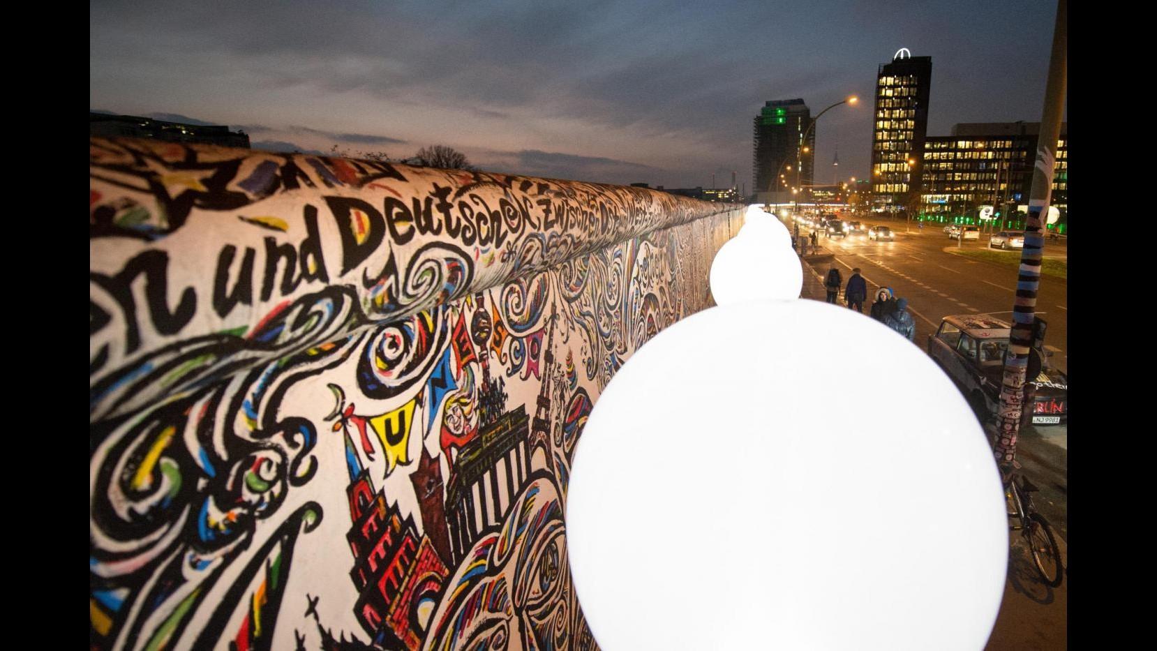 Muro Berlino, accesi 8mila balloons: al via celebrazioni